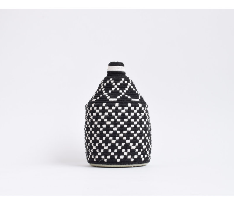Berber Basket Wool - black/white