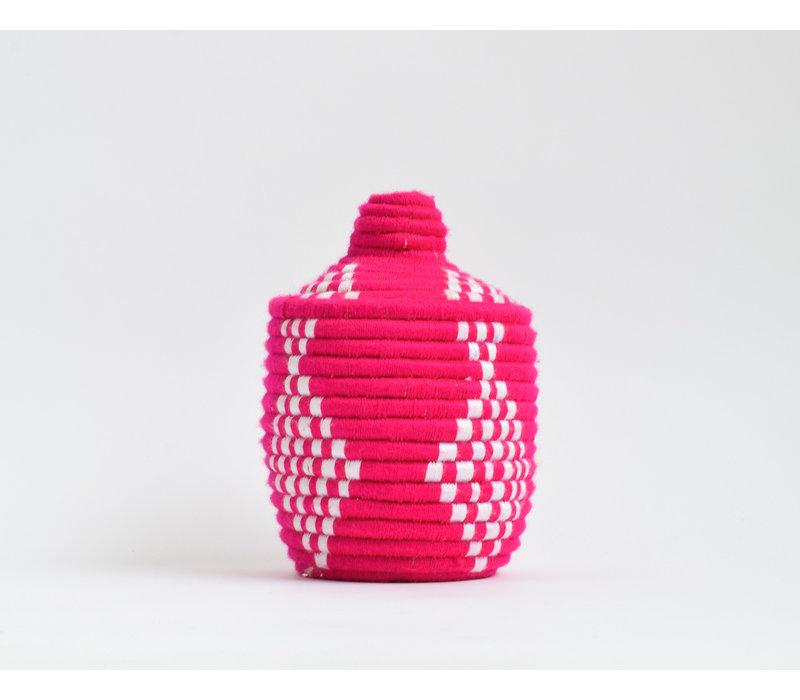 Berber Basket Wool - hot pink/white