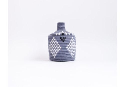 Berber Basket Wool - grey/white