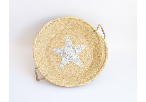 Natural tray silver star