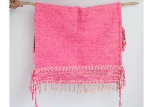 Zanafi Kilim Rug - hot pink