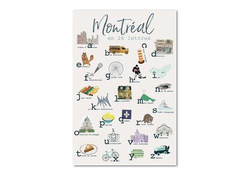Montreal en 26 lettres 12x18