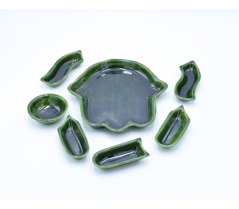 Khmissa Plate tamegroute green