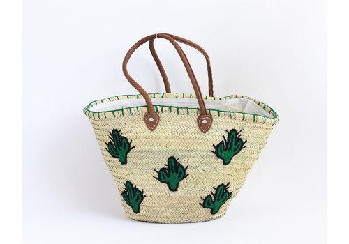 Straw basket Cactus
