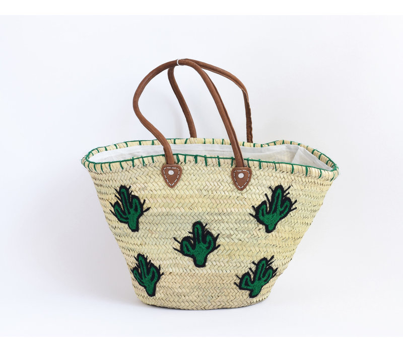 Panier osier cactus