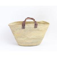 Straw basket double handle