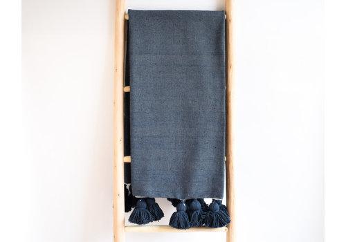 Pompom Blanket Indigo