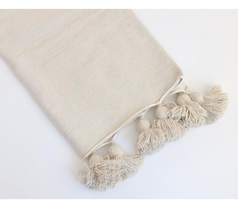 Pompom Blanket Sand