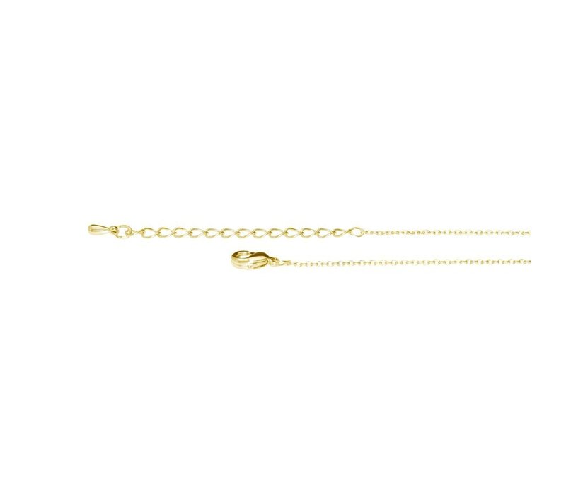 Collier Letty or jaune