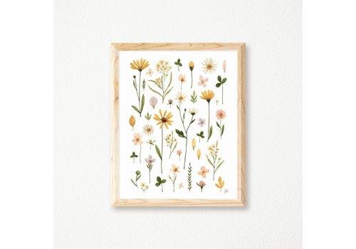 Gentle Florals Herbarium Print 11x14