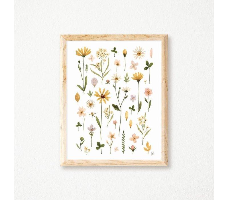 Affiche Herbier Douceur Florale 11x14