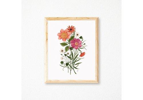 Vintage Bouquet Print 8x10