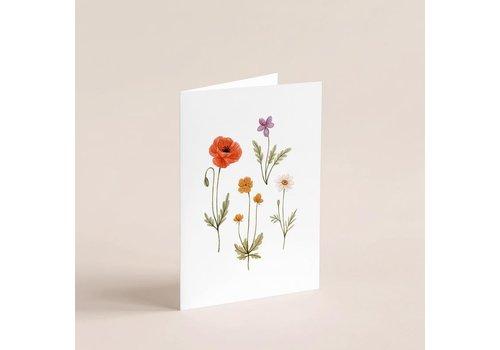 Carte Petites fleurs sauvages