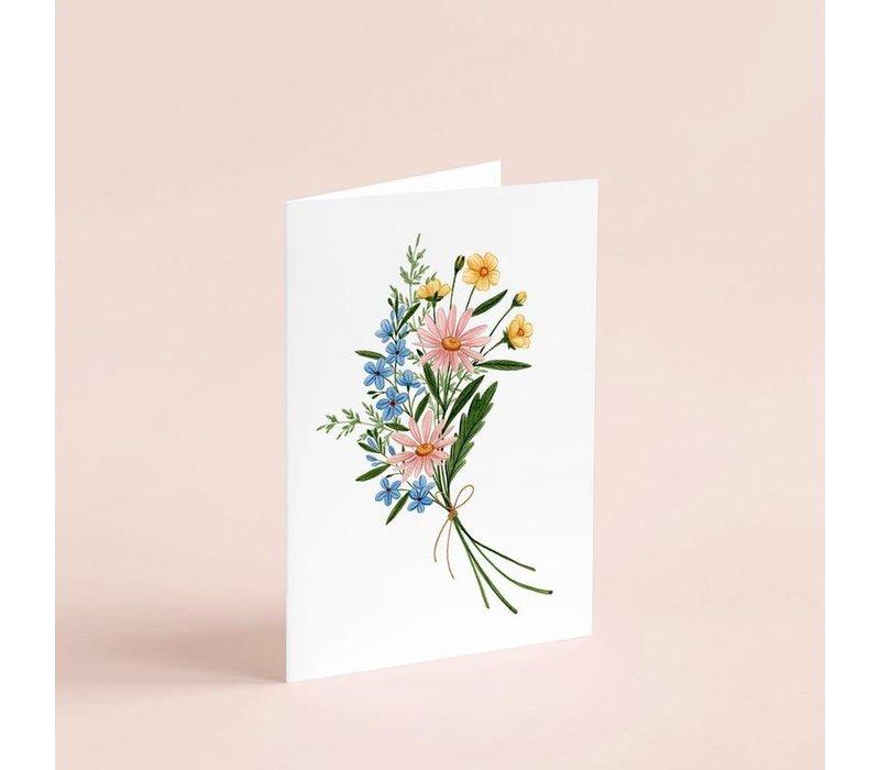 Pastel Bouquet Card