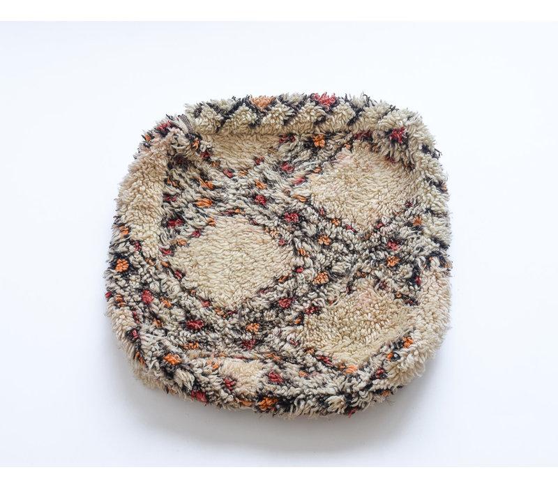 Vintage rug pouf B