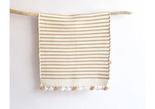 Tapis de bain coton beige