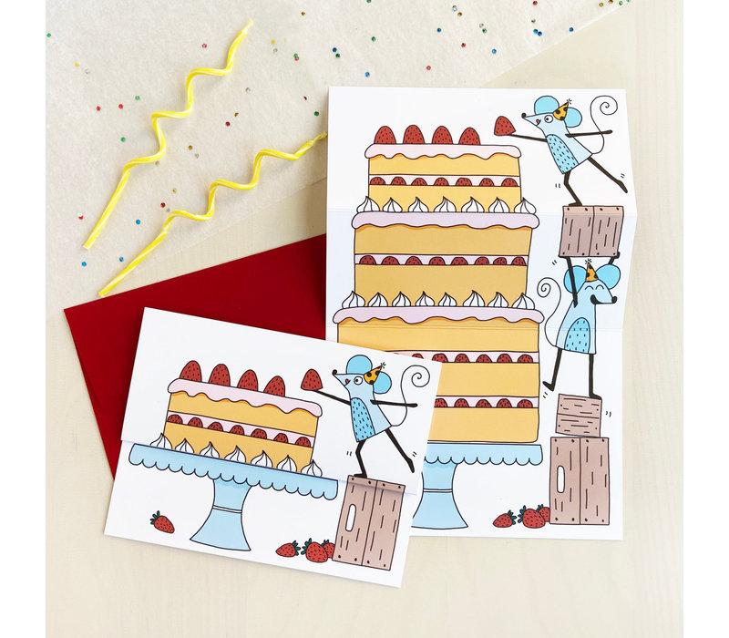 Carte à déplier - Grand gâteau