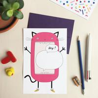 Unfolding Card - Cat