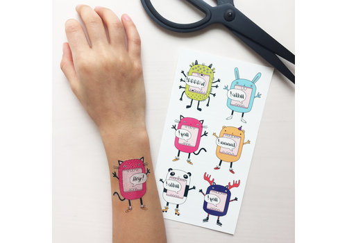 Temporary Tattoos - funny characters