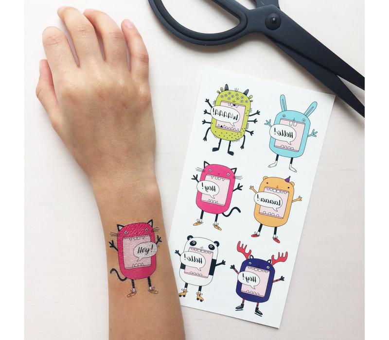 Temporary Tattos - funny characters