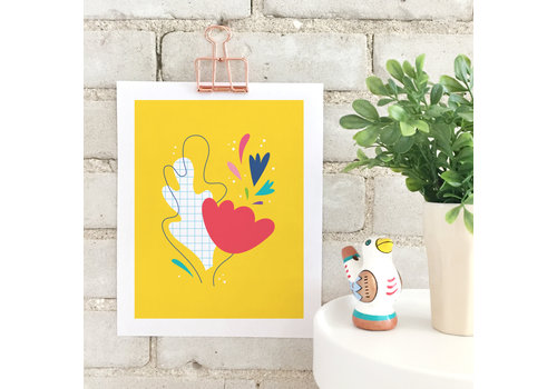 Abstract Bouquet Print