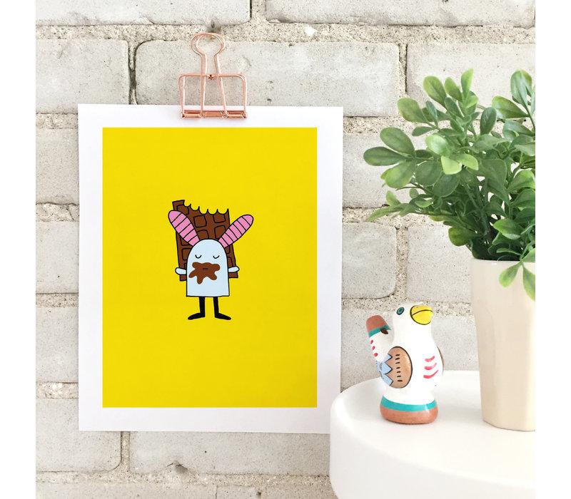 Bunny and chocolate Print