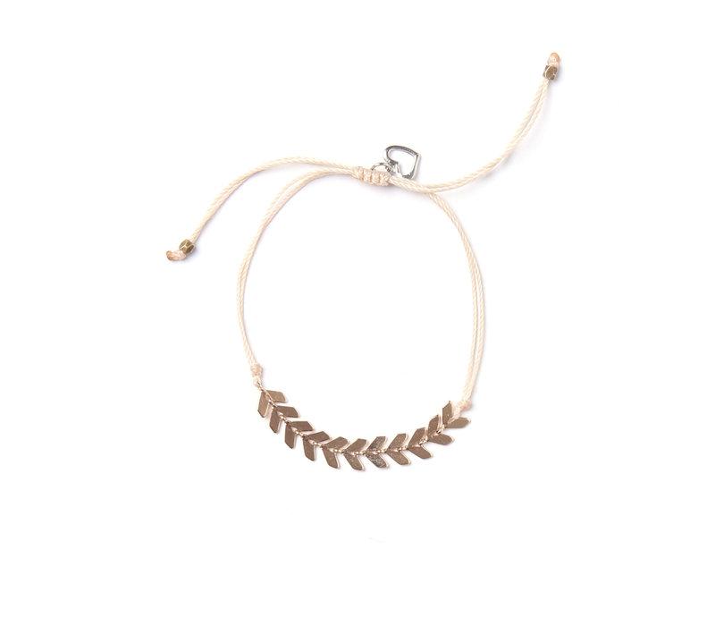 Bracelet LEAF naturel