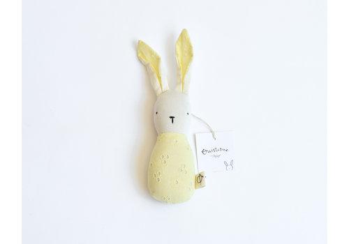 Yellow - bunny rattle