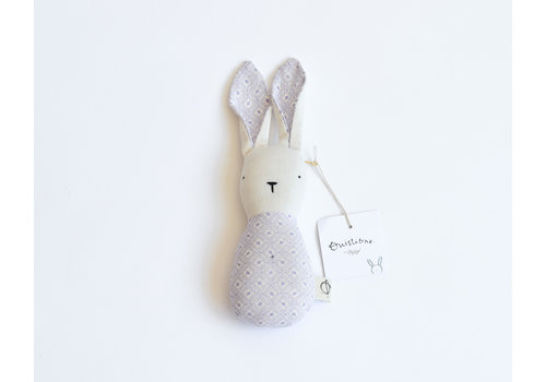 Lilac - bunny rattle