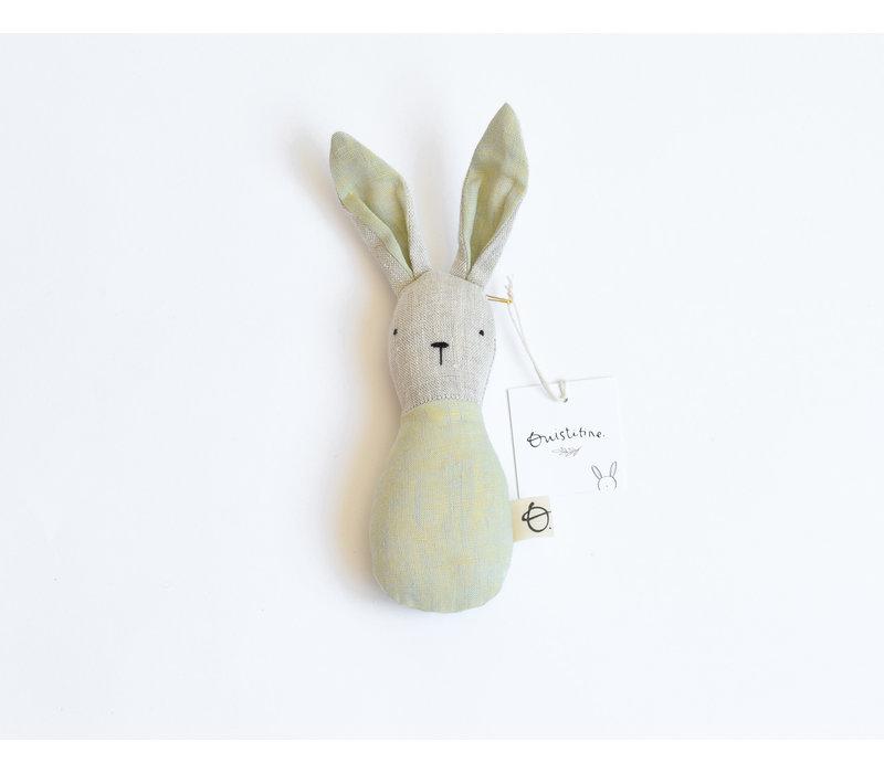 Green yellow - bunny rattle