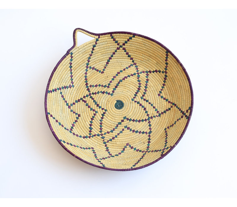 Wicker Tray - purple star