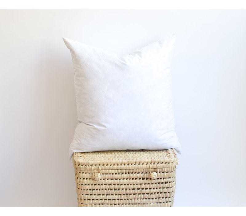Rembourrage coussin plumes