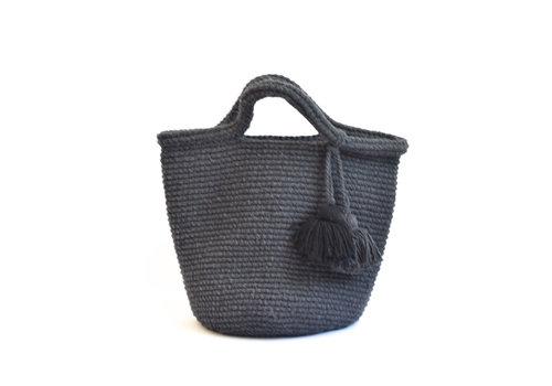 Crochet tote bag gris