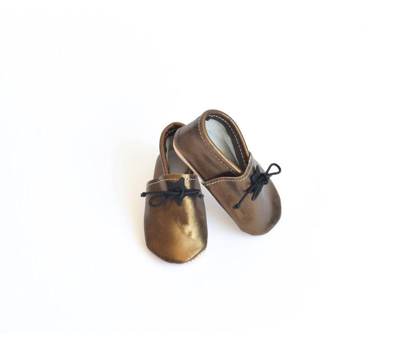 Mocassins bronze 2 ans