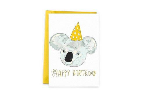 Koala birthday Carte de souhait