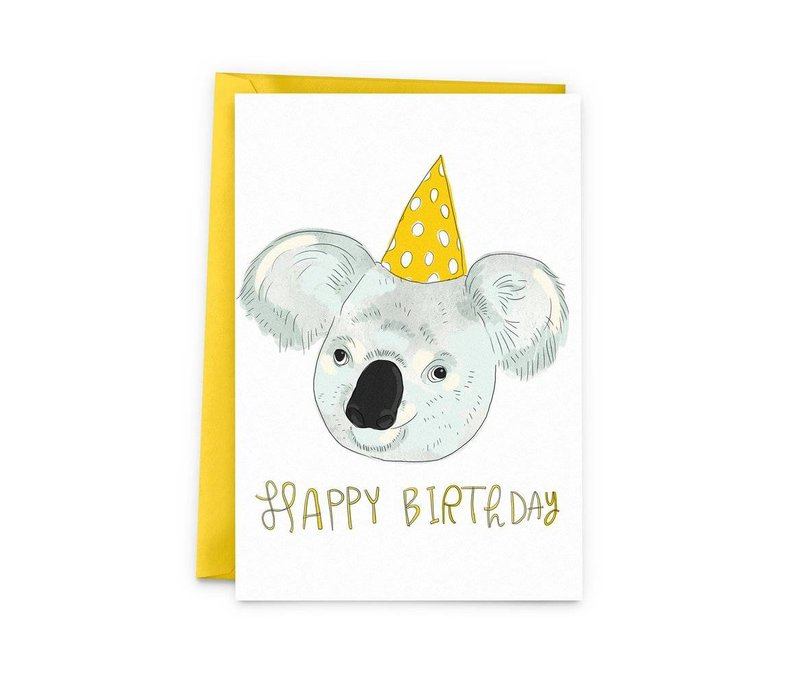 Koala birthday Carte de souhait
