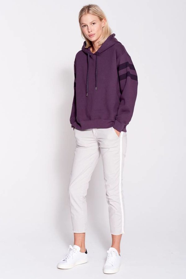 SUNDRY Stripes Side Zipper Hoodie