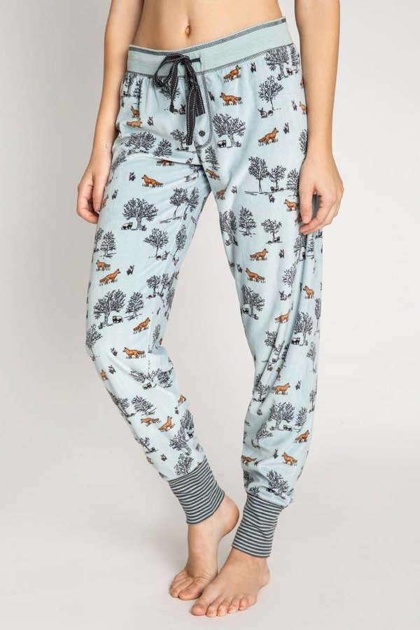 P.J Salvage Woodland Winter Fox Banded Pant