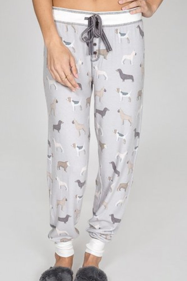 P.J Salvage Raining Cats & Dogs Banded Pant