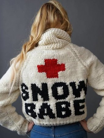 GOGO SWEATERS Short Snow Babe Jacket