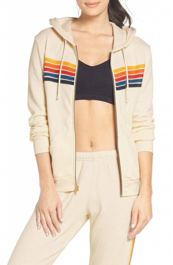 Aviator Nation 5 Stripe - Zip Hoodie