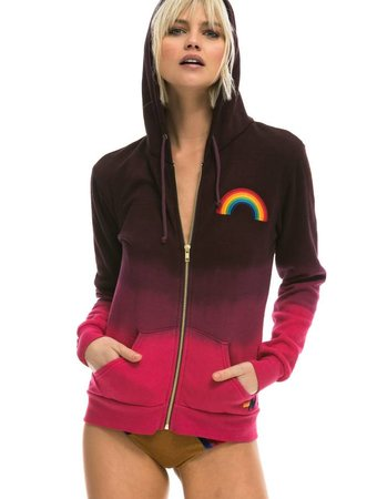 Aviator Nation Faded rainbow embroidery