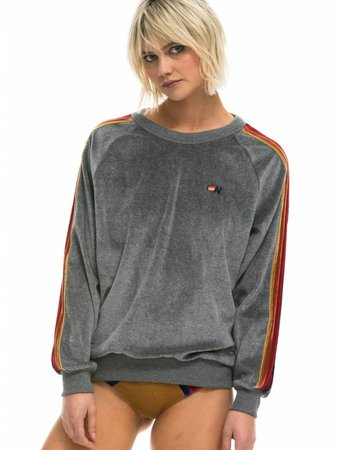 Aviator Nation Classic - Crew Velour Raglan