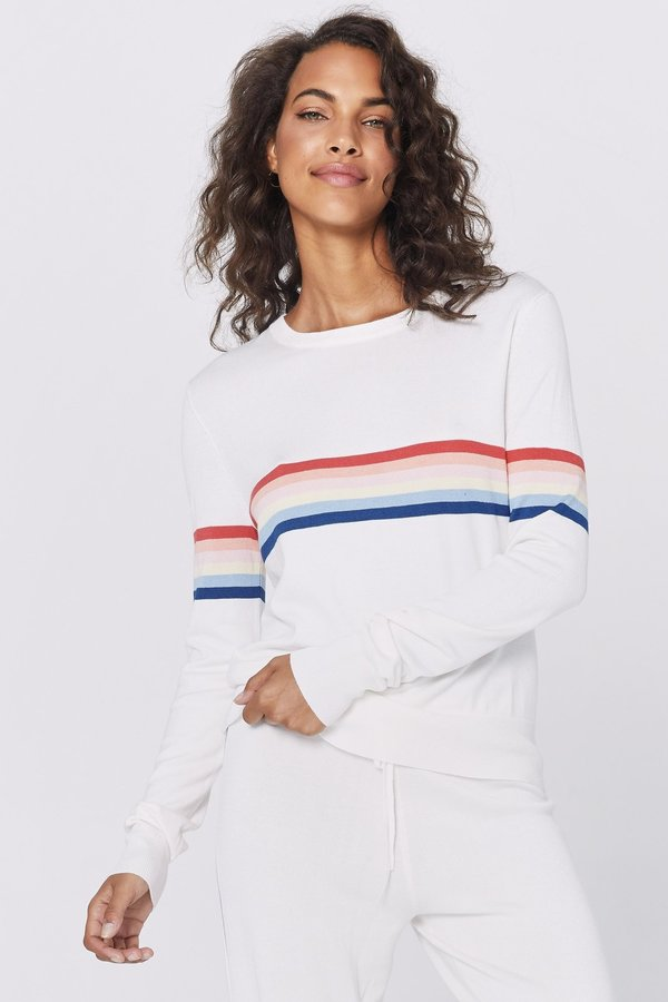 SPIRITUAL GANGSTER Stripe Sweater