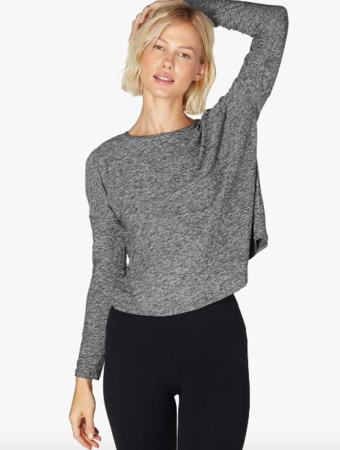 BEYOND YOGA Morning Light Cropped Pullover
