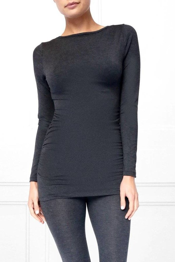 STATE & MANOR Carlin Rouched Long Sleeve
