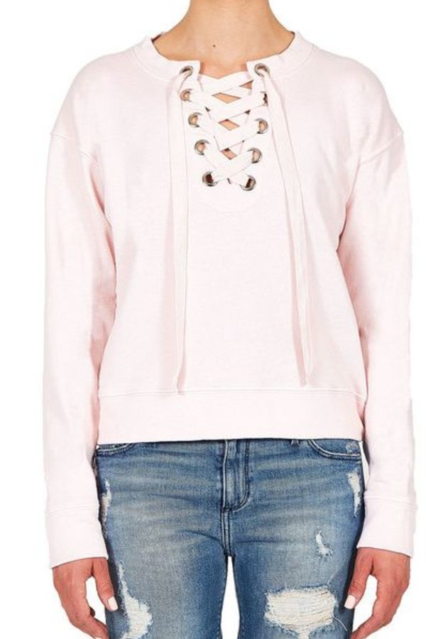 BLACK ORCHID Lace Up Sweatshirt