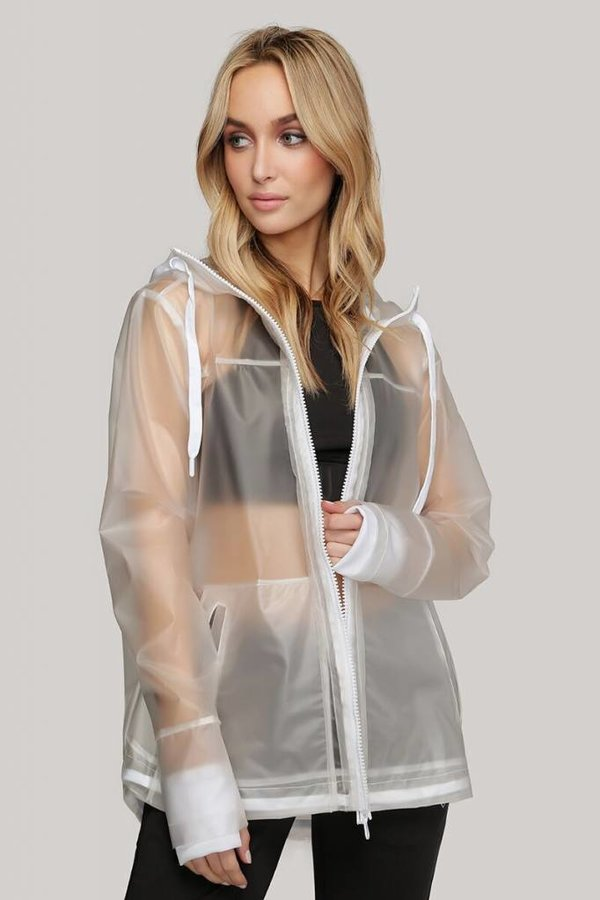 INDUSTRY Ladies woven rubberized raincoat