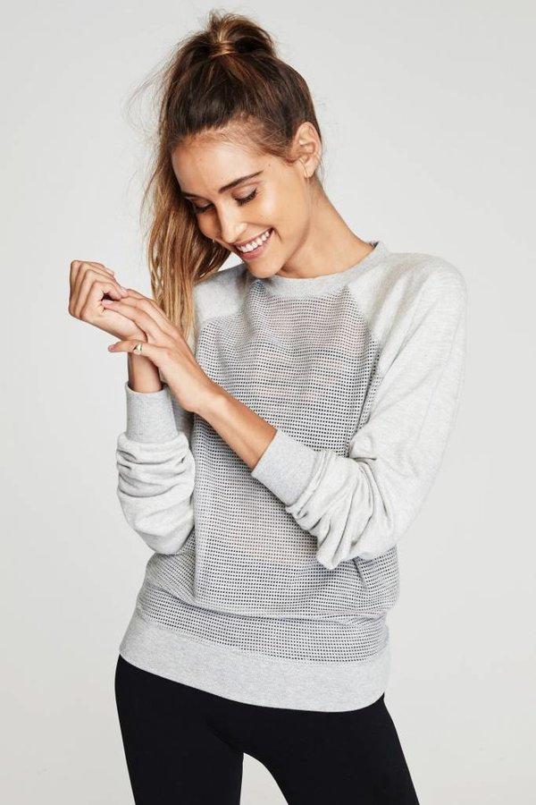 SPIRITUAL GANGSTER Breathe Mesh Sweater