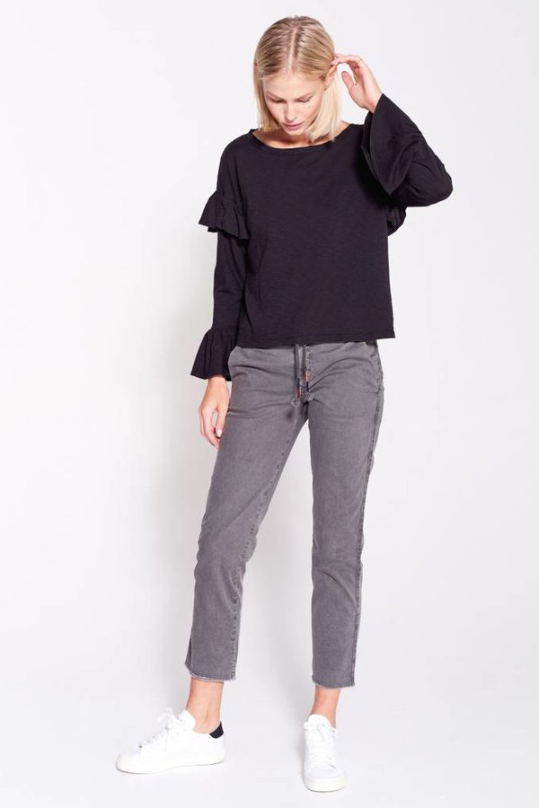 SUNDRY Double Ruffle Long Sleeve